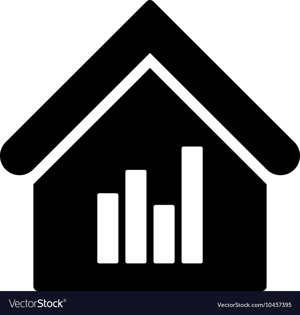 Realty Bar Chart Flat Icon