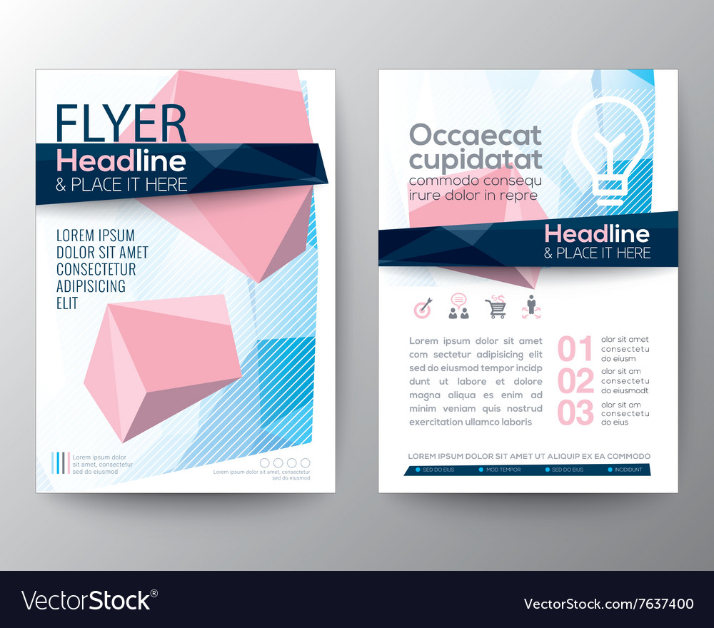 Abstract low polygon background design Layout vector image