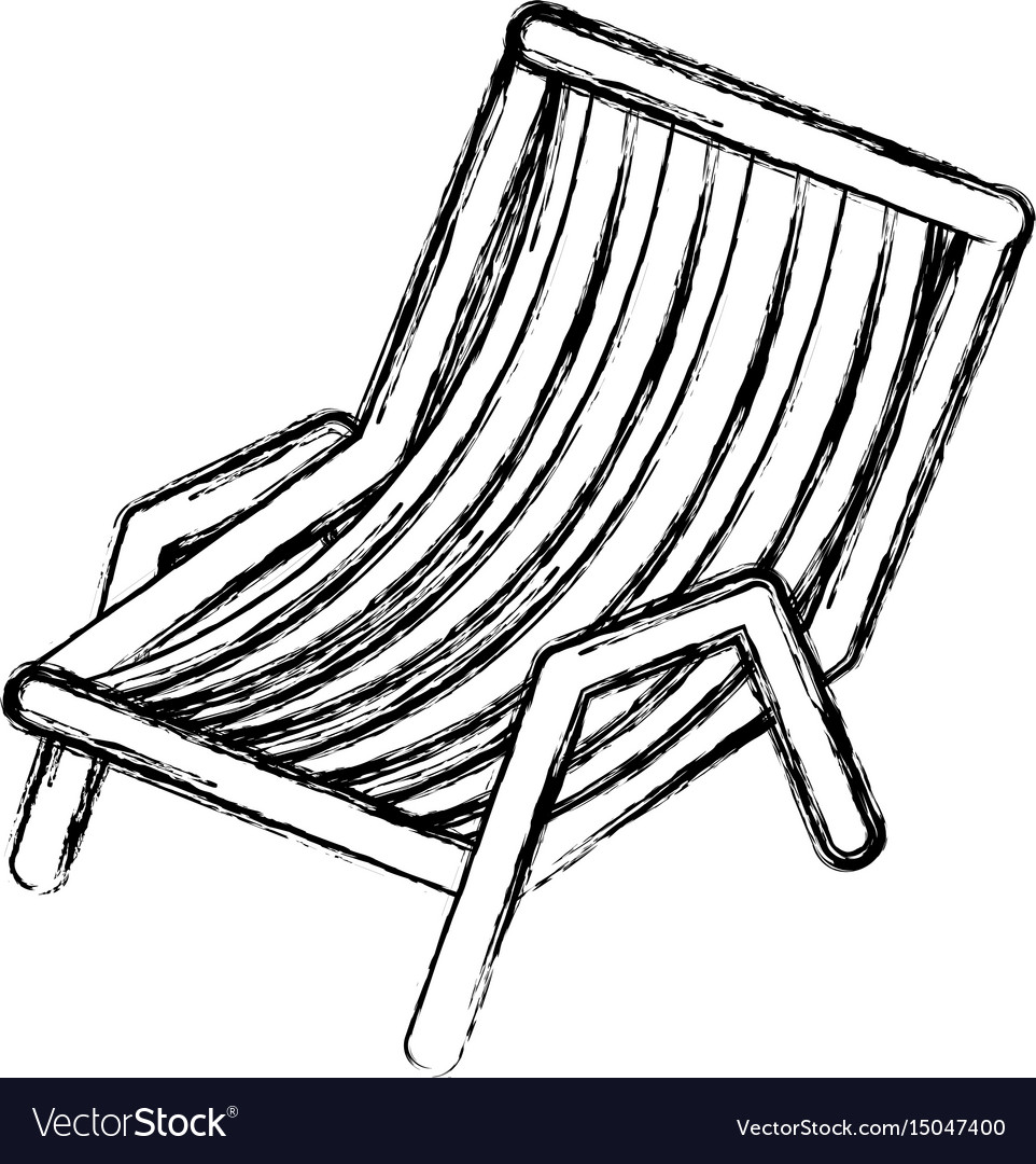 Blurred thick silhouette of beach chair