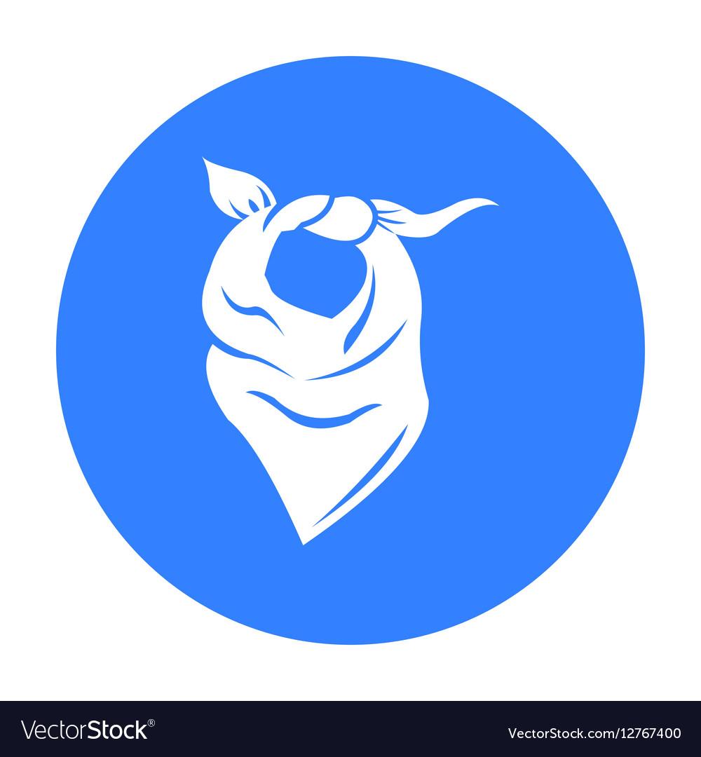 Cowboy scarf icon black Singe western icon from vector image