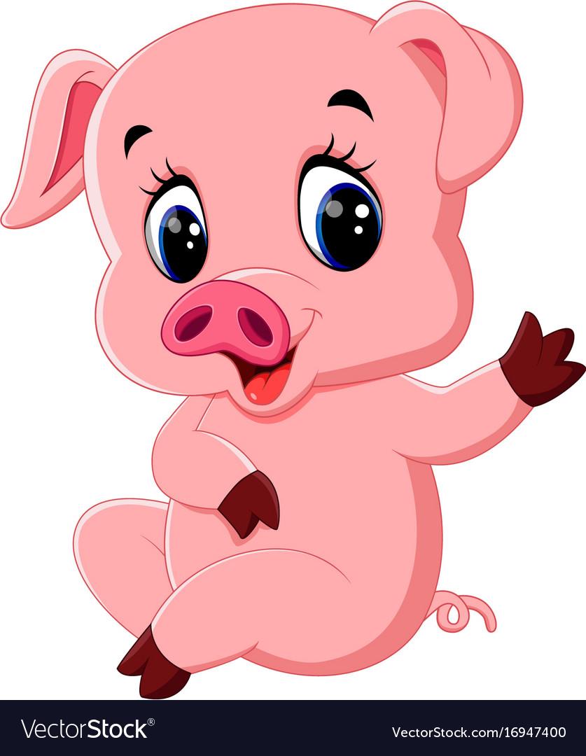 cute pig cartoon posing royalty free vector image bow clipart free bow clipart free