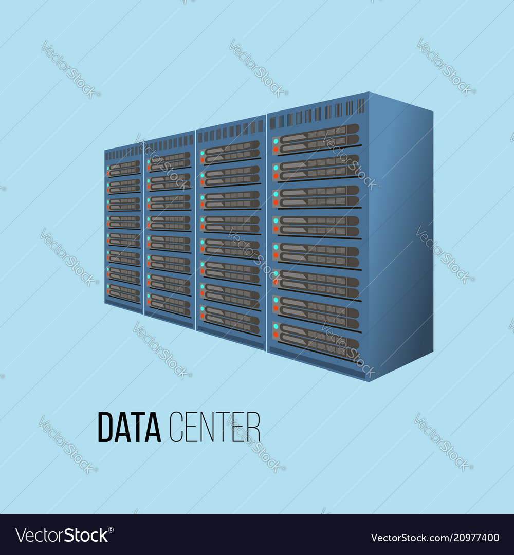 Data center hosting concept with data storage
