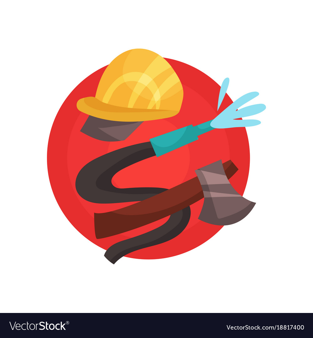 Fireman profession icon firefighter elements
