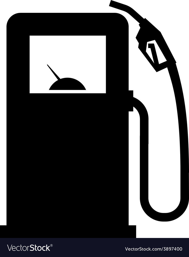 Gasoline filling station logo design vector image