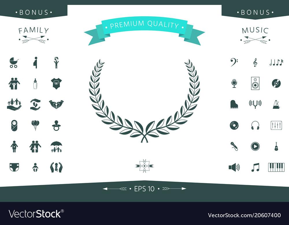 Laurel wreath element for yor design vector image