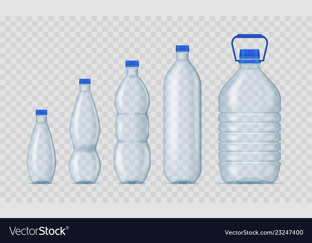 Realistic detailed 3d blank plastic bottles