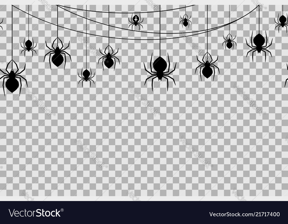 Seamless pattern with spiders for halloween