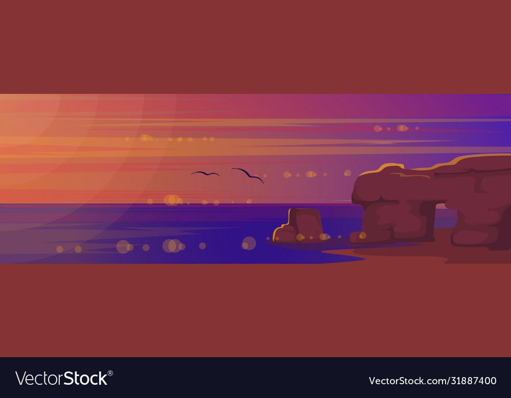 Sunset at sea landscape