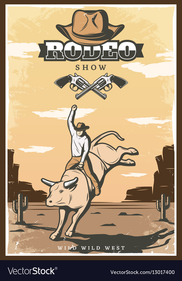 Vintage Rodeo Show Poster