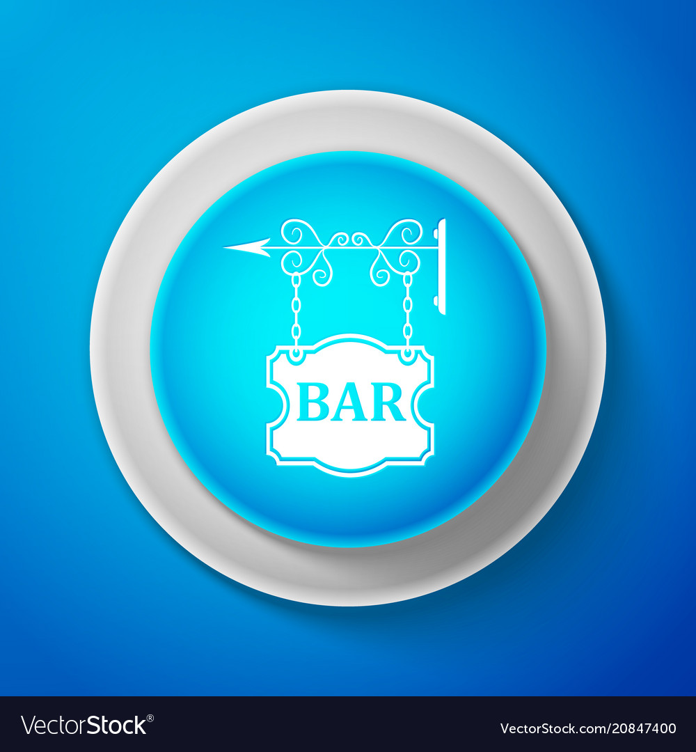 Vintage signboard outdoor advertising with bar vector image