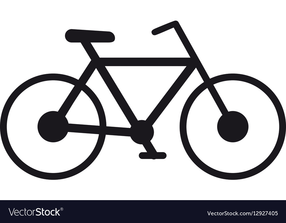 Bicycle transport sport recreational pictogram