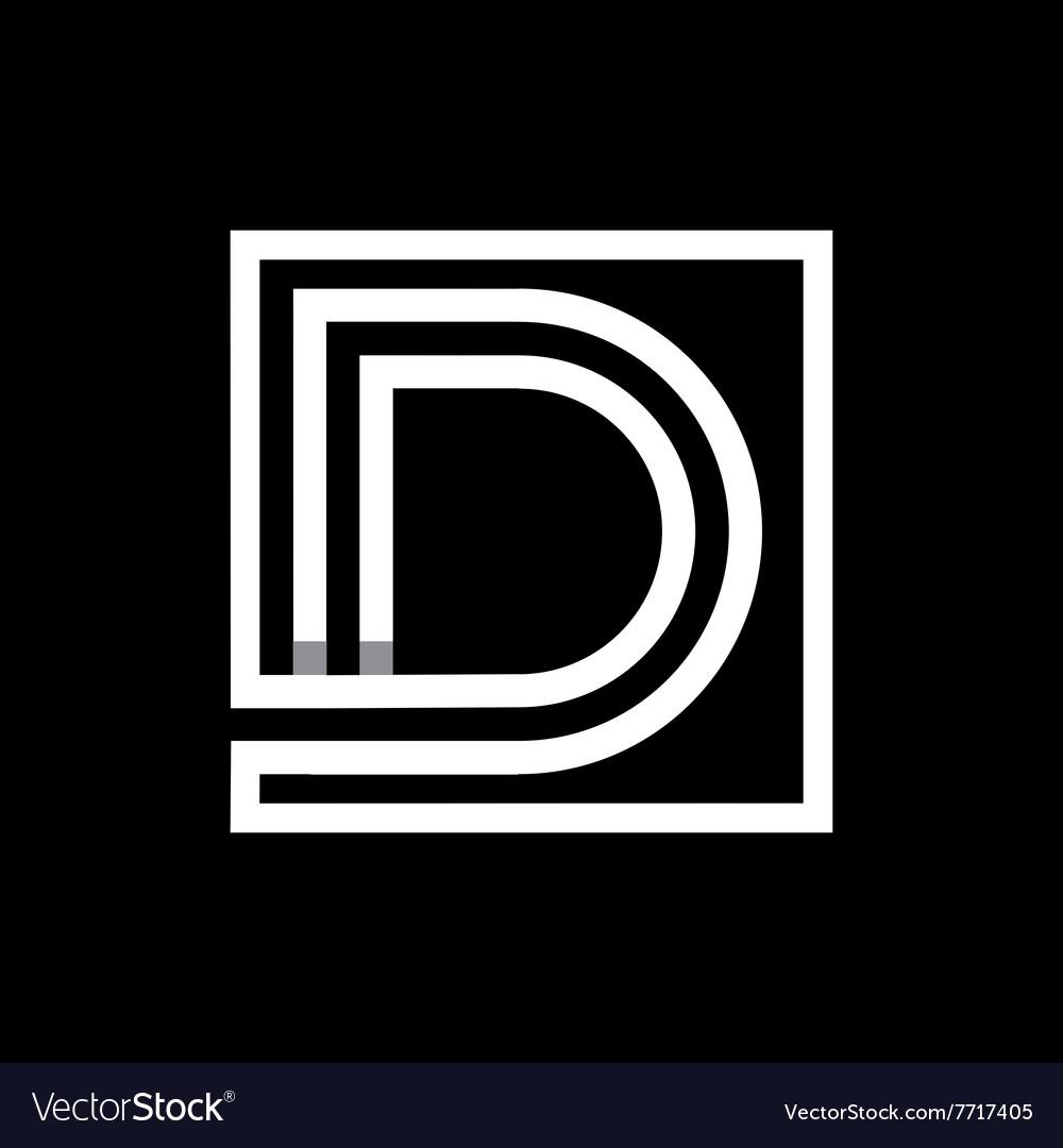 Capital letter D Monogram logo emblem vector image