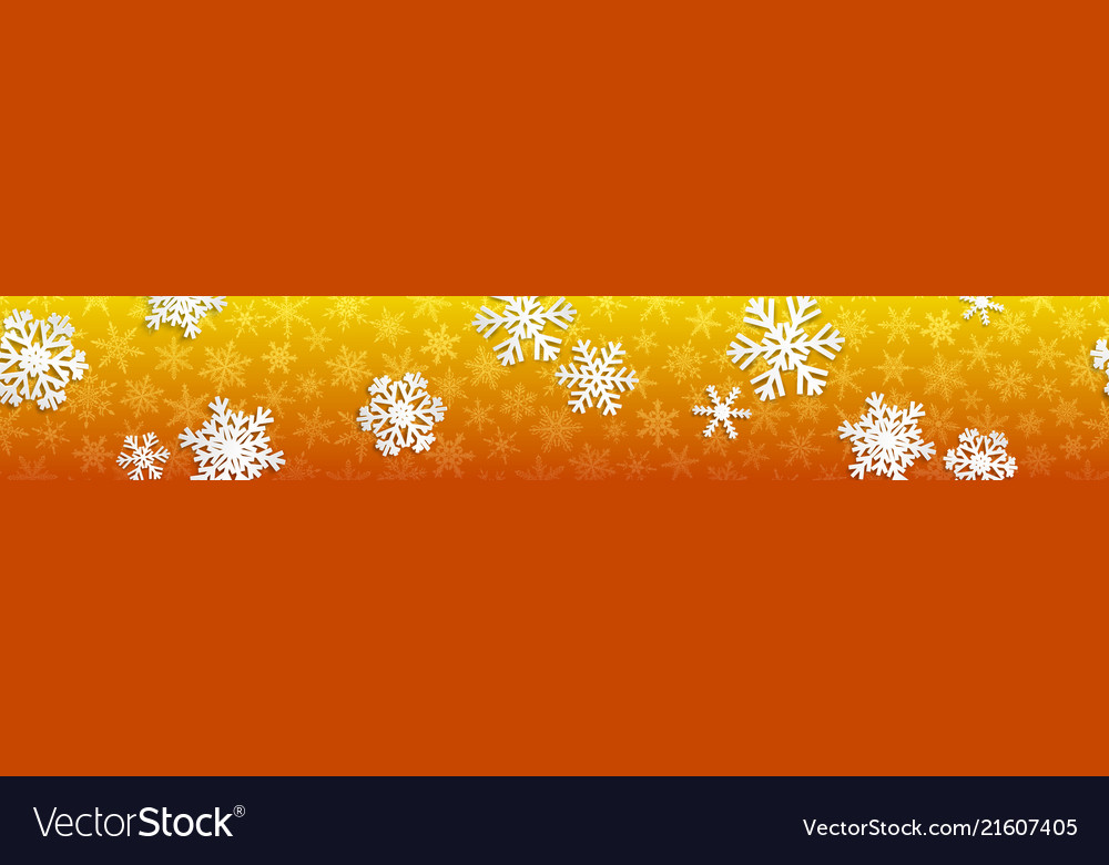 Christmas banner with white snowflakes