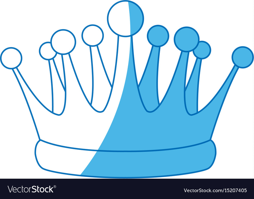 Crown kindom royal luxury icon vector image