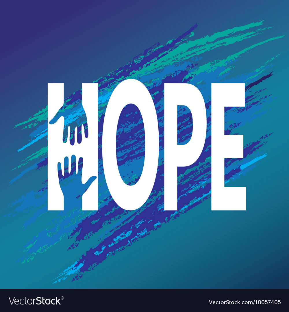 Hand of hope encouragement Support moral vector image