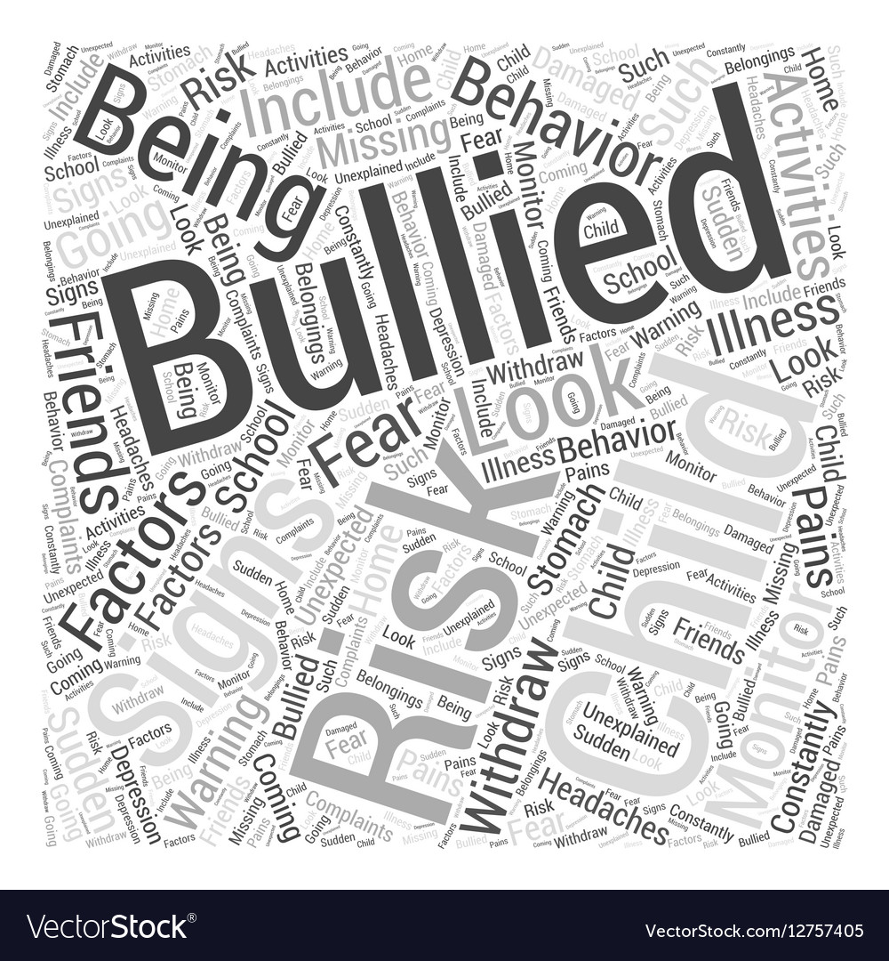 Is Your Child at Risk of Being Bullied Word Cloud