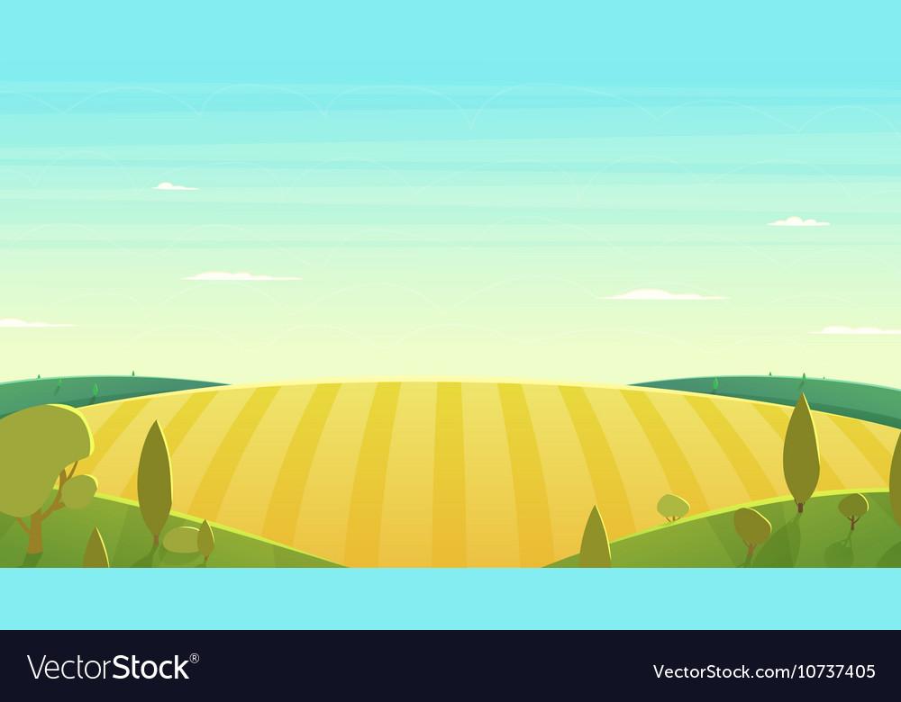 Natural landscape Cartoon vector image