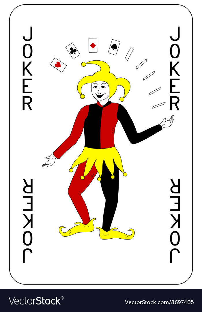 Poker playing card Joker