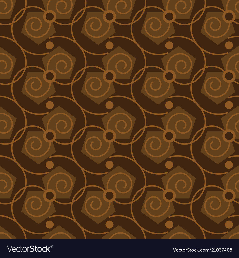 Seamless abstract pattern in coffee color