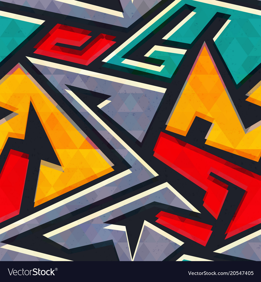 Urban style geometric seamless pattern