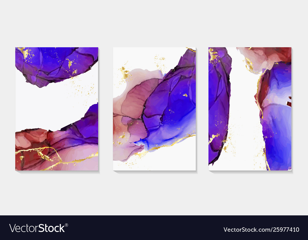 Alcohol ink paint abstract shapes closeup the