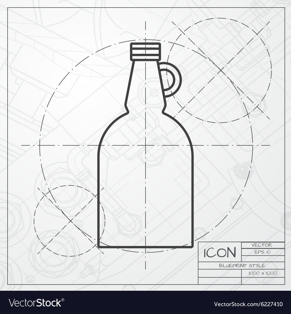Flat apple cider vinegar bottle template vector image malvernweather Image collections