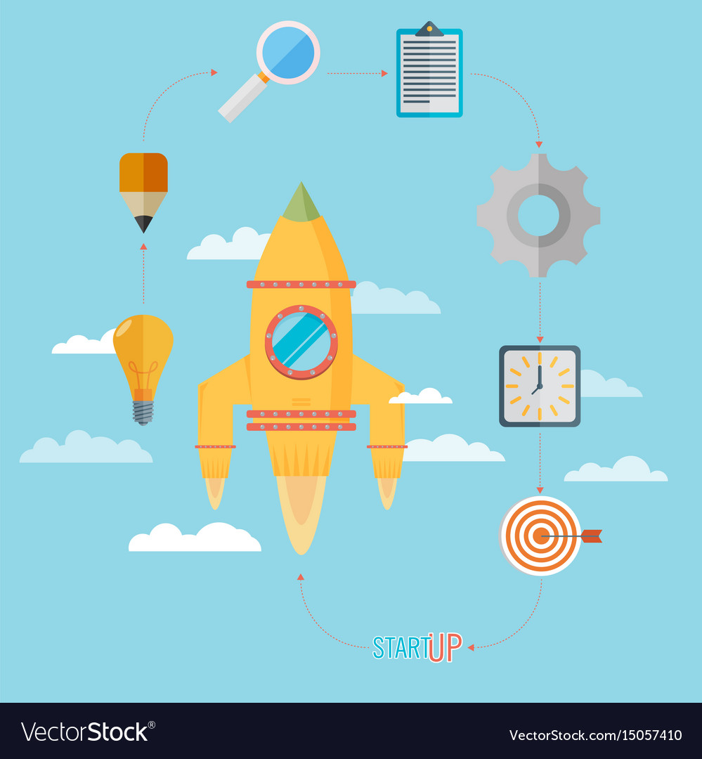 Flat design modern concept of new business vector image