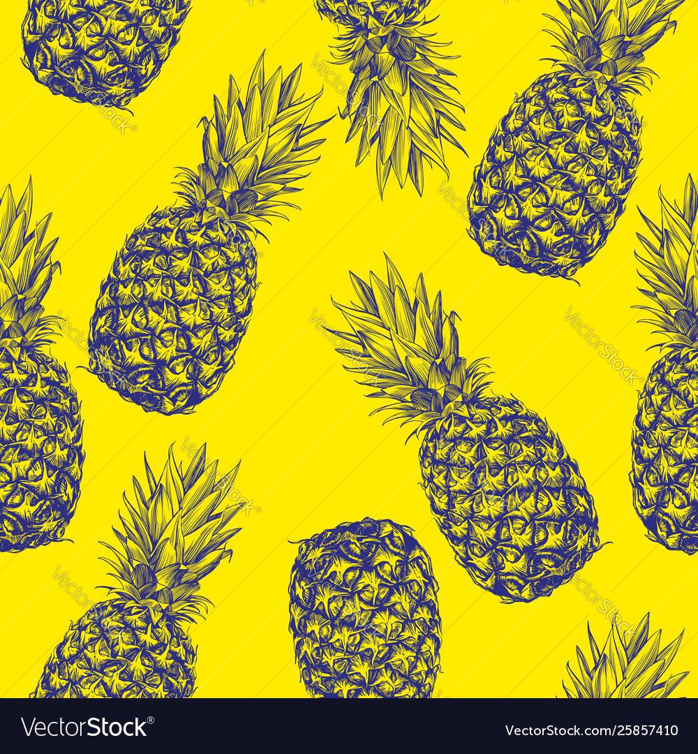 Fruit pineapple seamless texture wallpaper