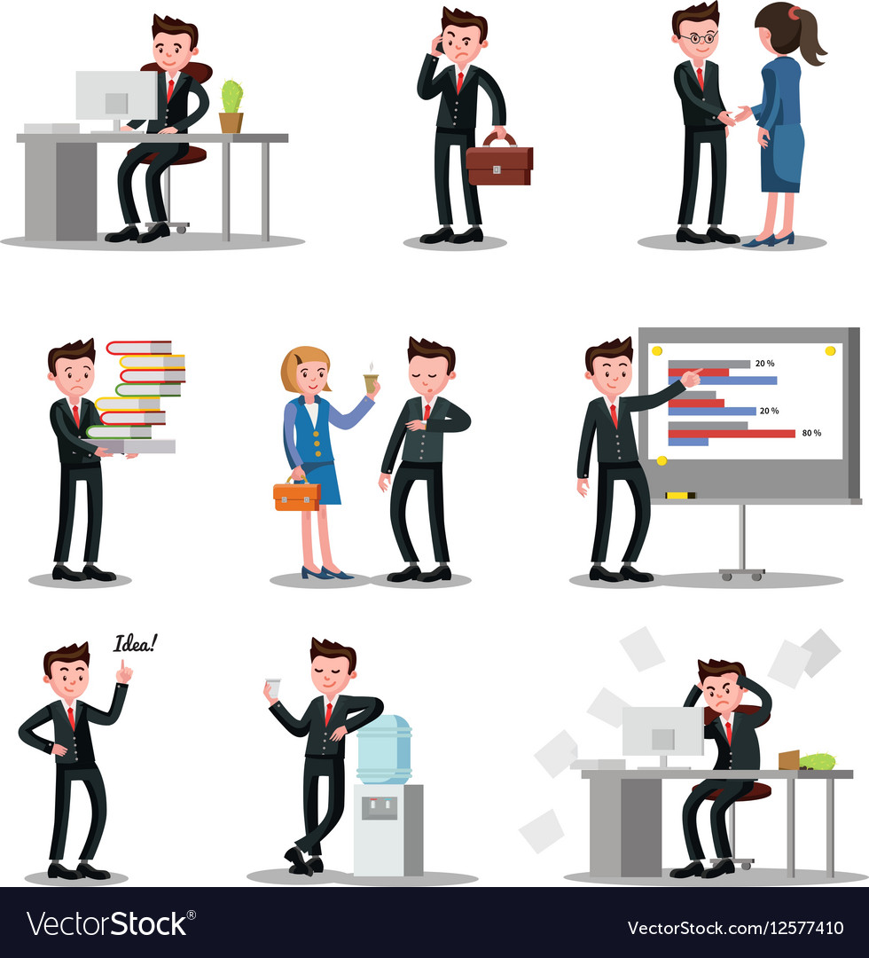 Office People Collection vector image