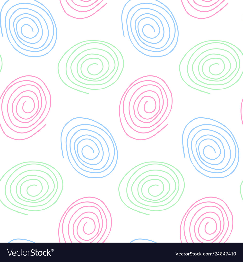 Seamless pattern in pastel tones hand drawn