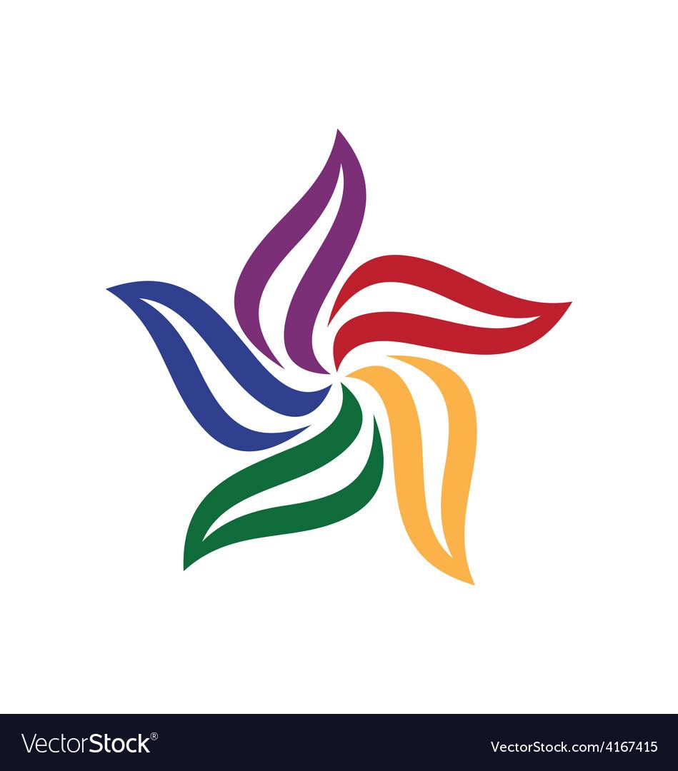 Circle leaf color logo