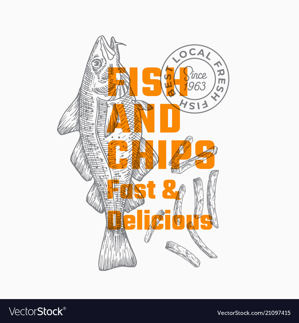 Fast and delicious fish and chips abstract