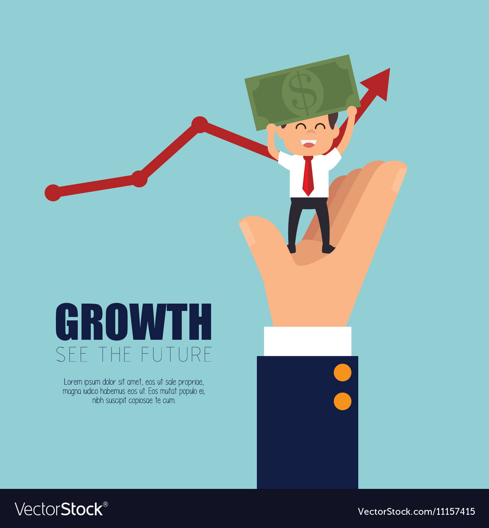 Growth business money project graphic