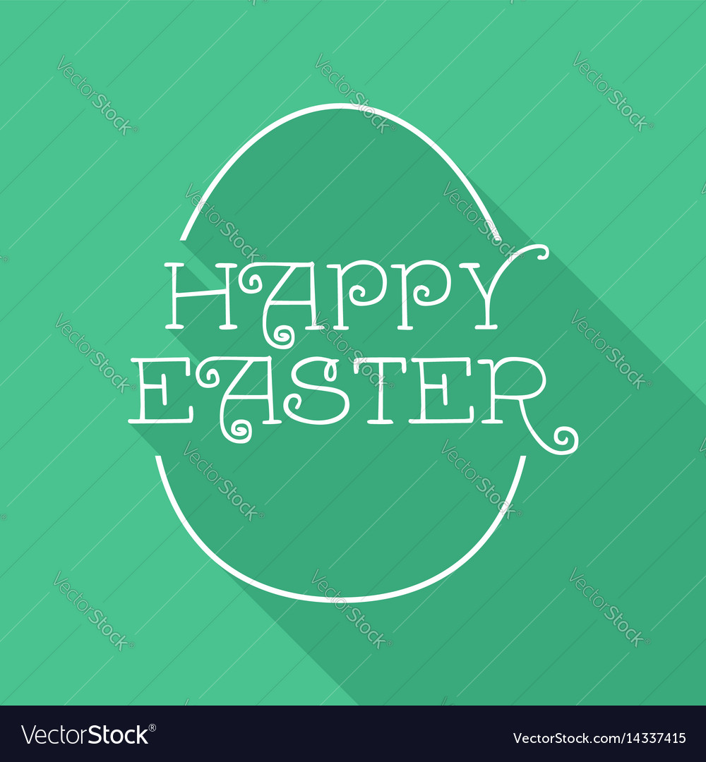 Happy easter egg quote greeting card design vector image