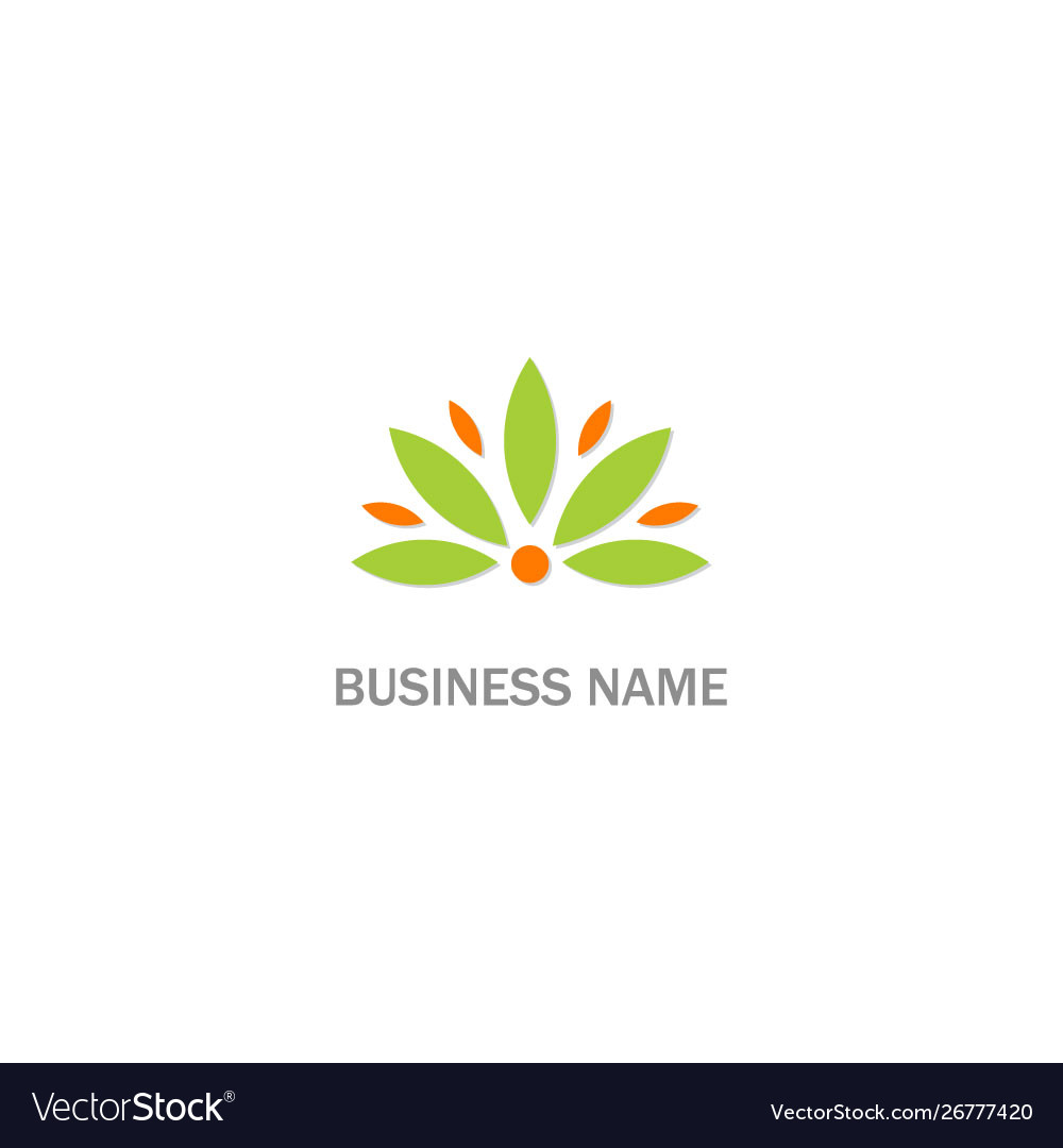 Abstract flower eco logo