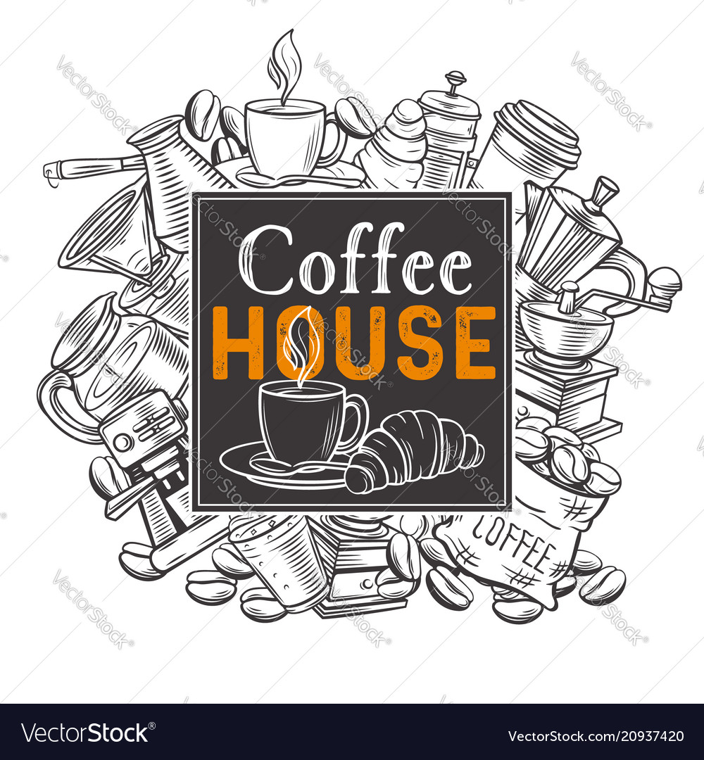 Banner template coffee house