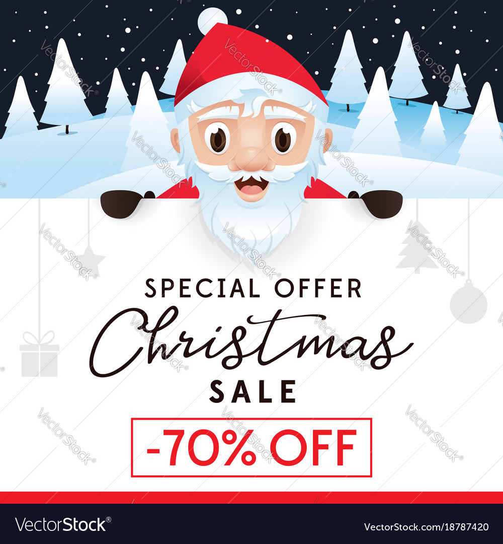 Until Christmas 70 Days Till Christmas.Christmas Sale Leaflet Discount Up To 70 Percent