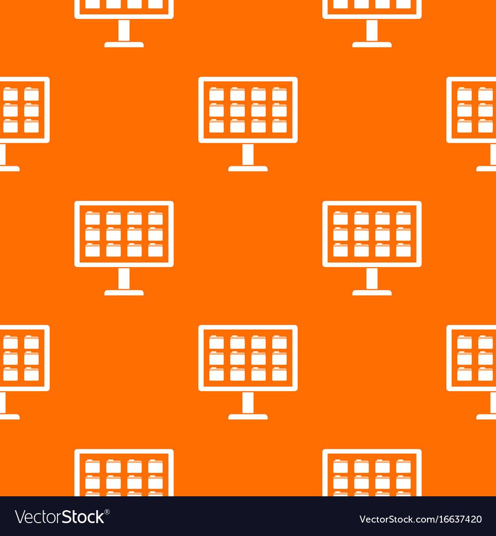 Desktop of computer with folders pattern seamless