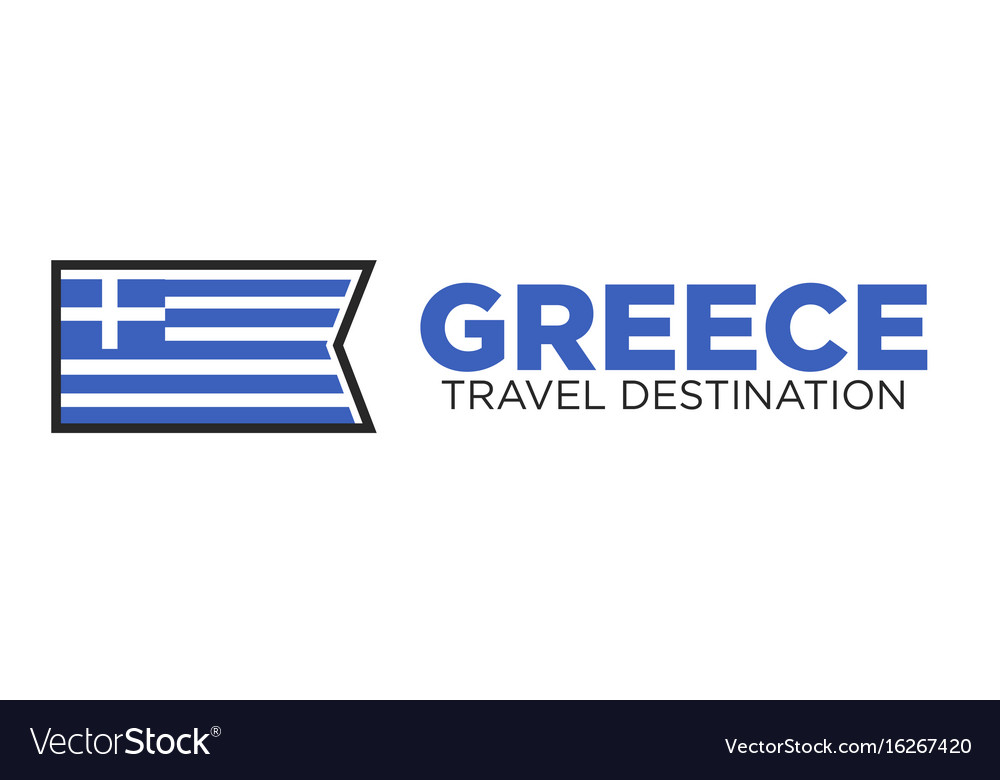 Greece travel destination logo
