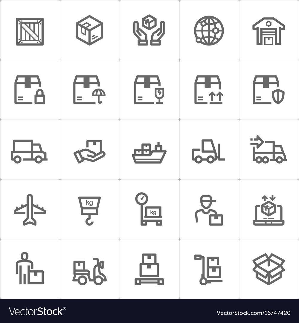 Icon set - logistic and delivery