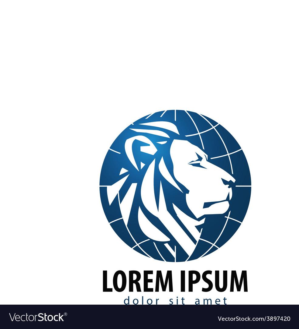 lion logo design template leo or animals vector image
