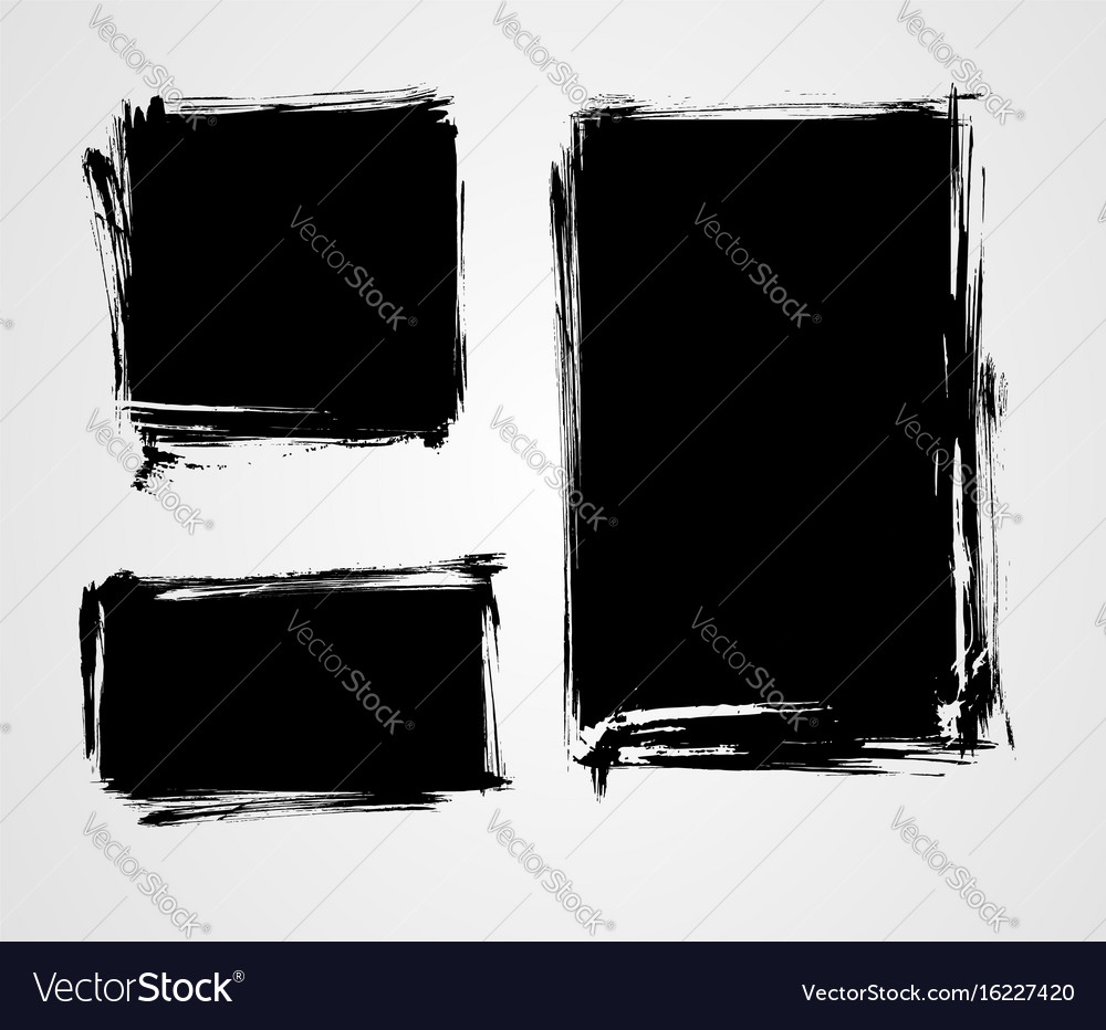 Set of grunge elements for your design template vector image