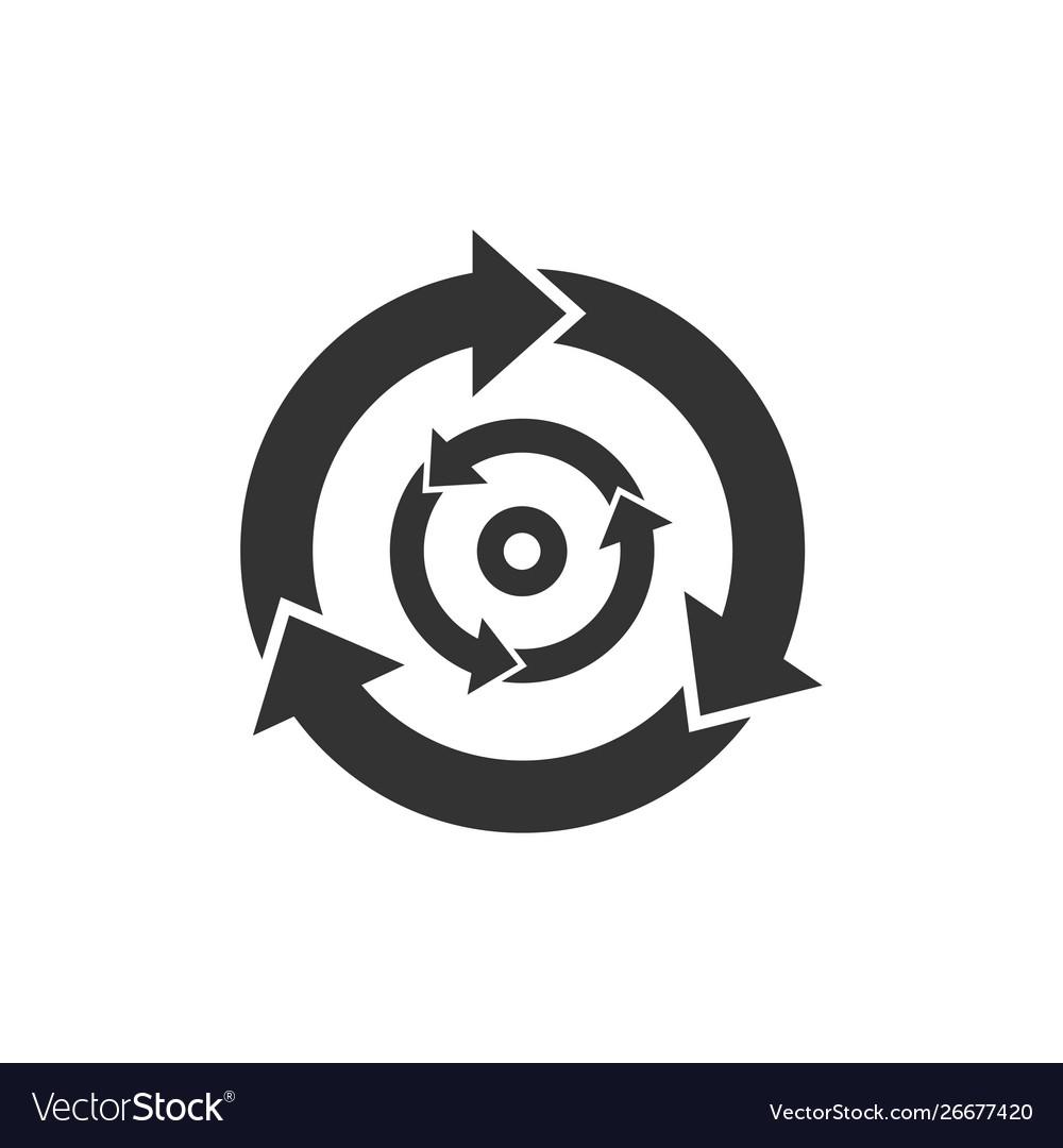 Three step cycle arrows icon