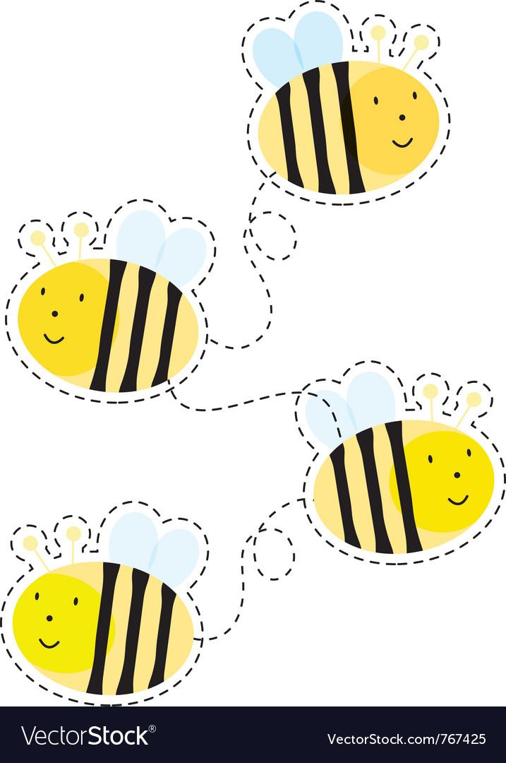 Buzzy bee vector image