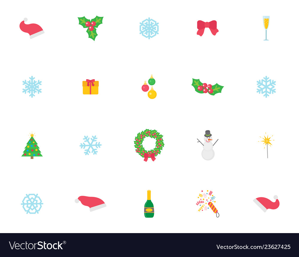 Christmas symbol and icons traditional items