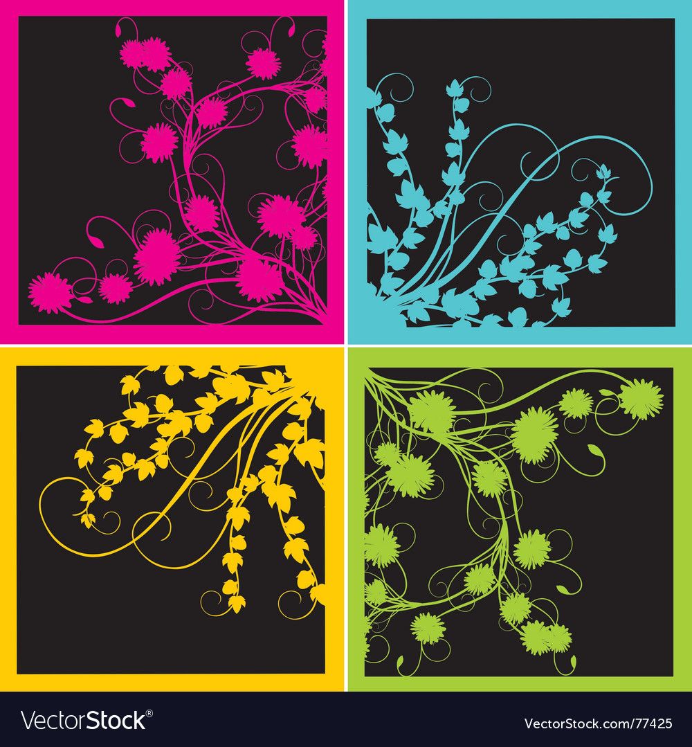 Colour vegetable pattern vector image