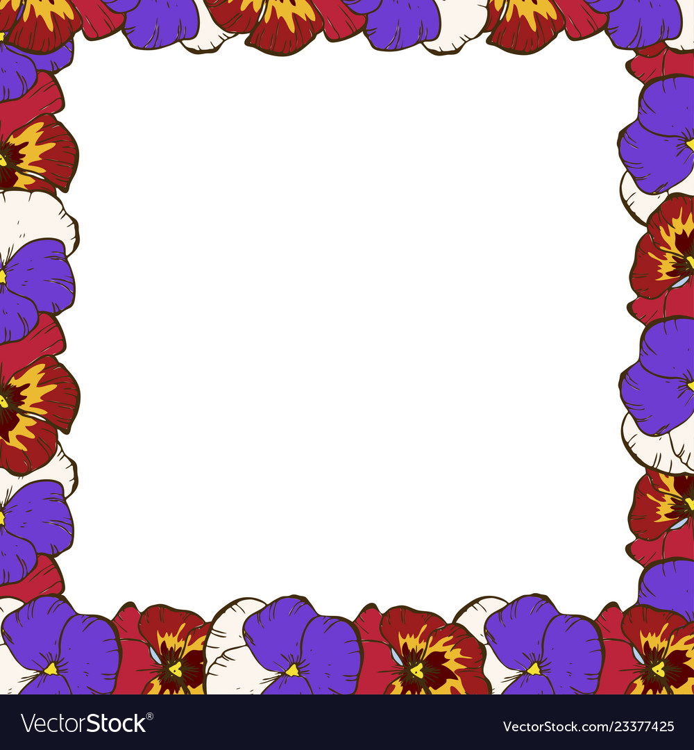 Frame of flowers beautiful frame of colorful