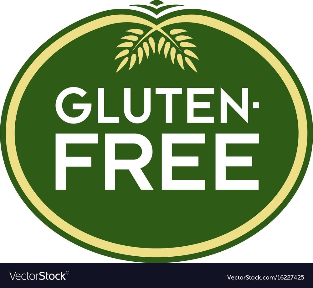 glutenfree logo royalty free vector image vectorstock