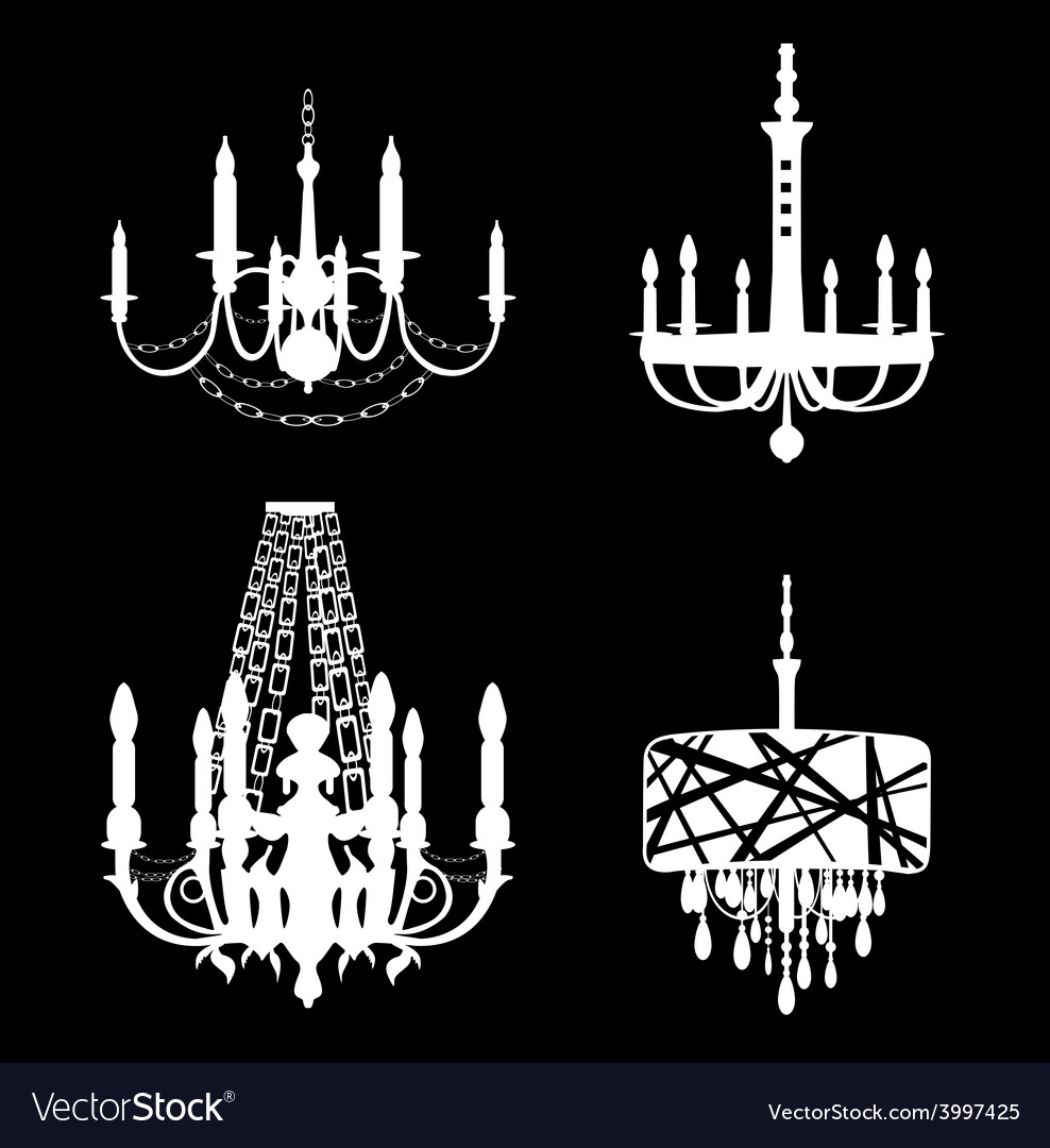 Set of chandelier icons