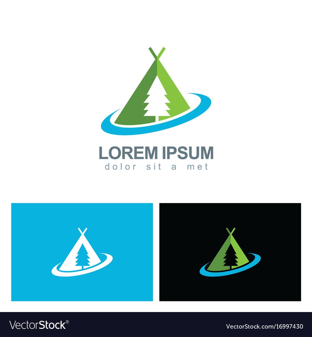 Camping pine tree logo